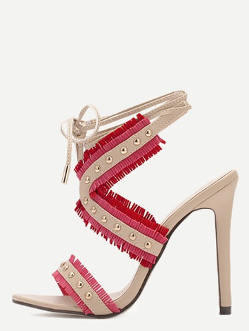 ILARY red fringe heels - SUITE 23