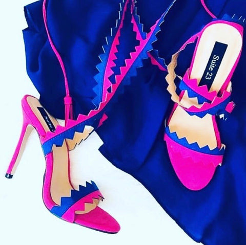 JESSY  purple and blue heel - SUITE 23