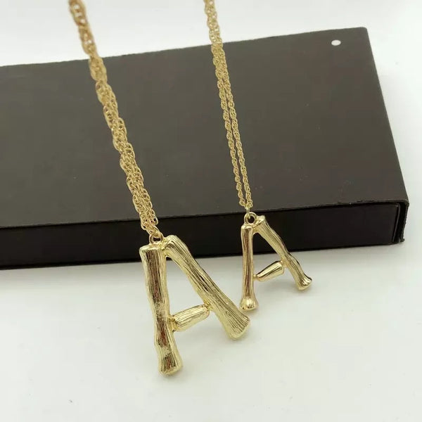 GOLD ALPHABET LETTER NECKLACE - SUITE 23