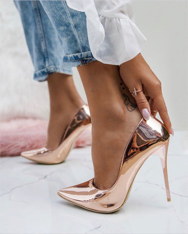 ROSE GOLD PUMPS - SUITE 23