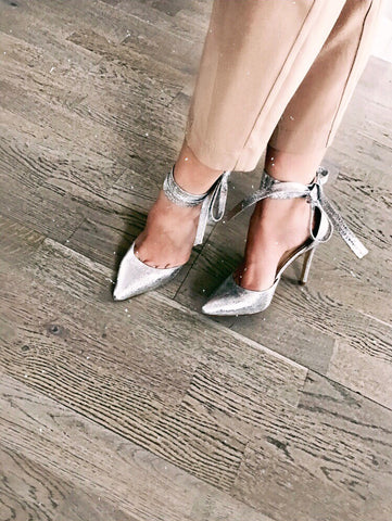 THEA silver pumps - SUITE 23