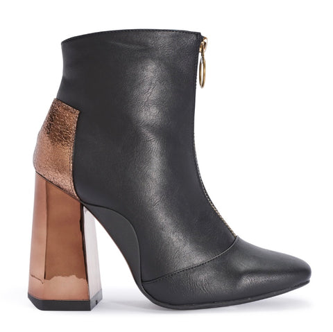 TRUFFLE ANKLE BOOTS BROWN HEEL - SUITE 23