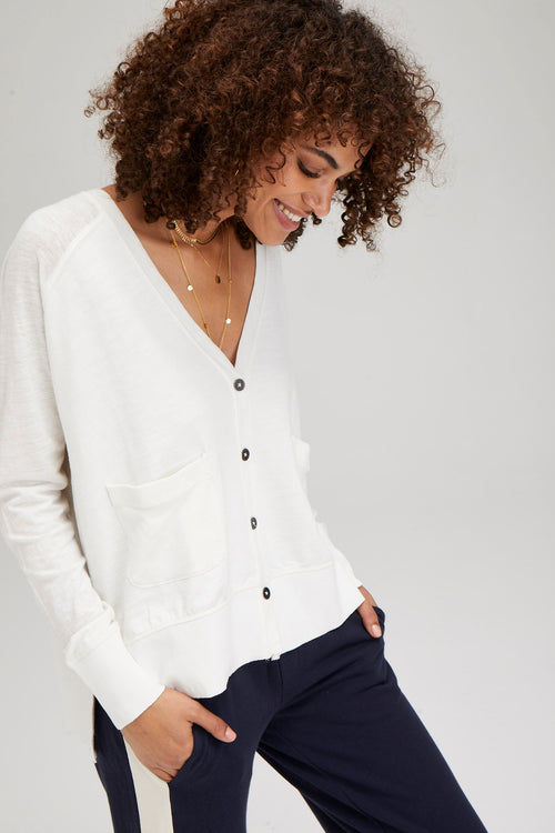Cropped Coastal Cardigan