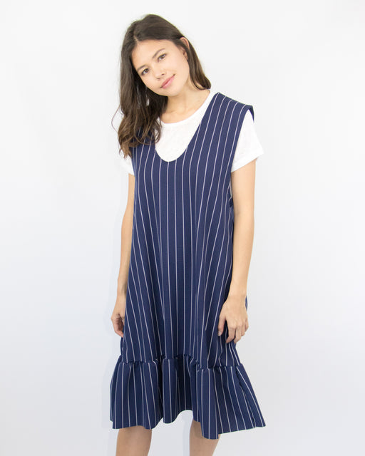 """The Jeter"" Pinstripe Dress"