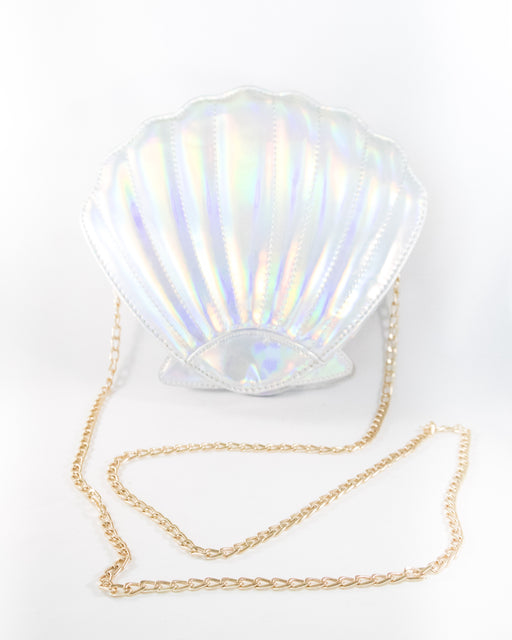 Mermaid Seashell Holographic Clutch