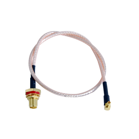 Pigtail: MMCX R/A to SMA Female Bulkhead with O-ring - RG316 - 3 inches
