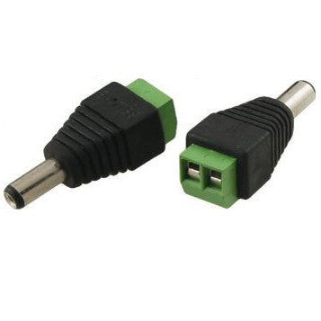 DC 5.5mm plug to screw terminal adapter
