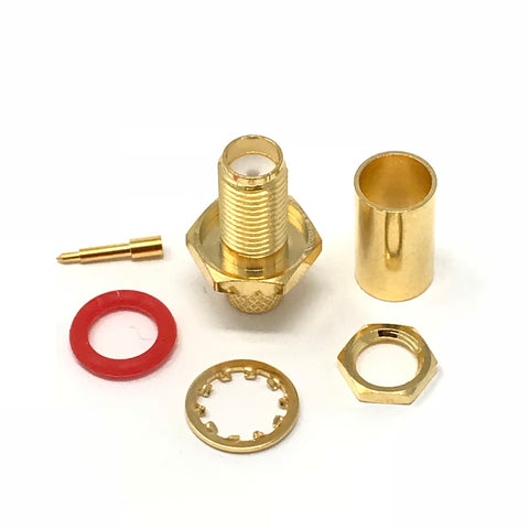 JEFA Tech Connector: RP-SMA Female Bulkhead with o-ring - LL240 - c240