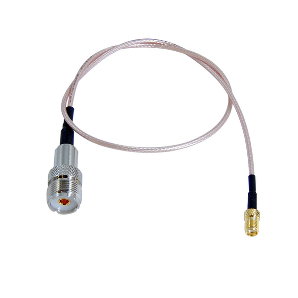 JEFA Tech HT Saver: SMA Female to UHF Female (SO239) - RG316 - 19 inches