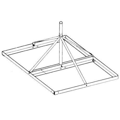 Non-Penetrating Roof Mount - 60 inch height