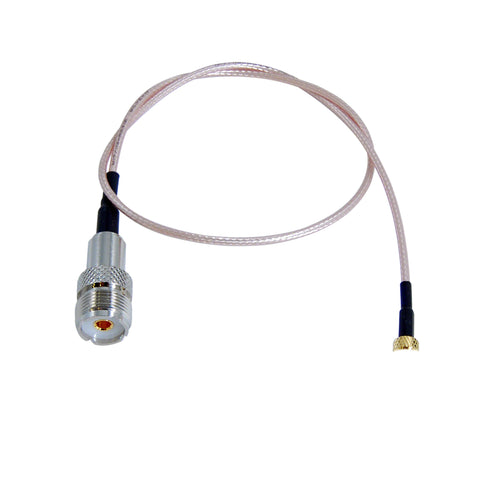 JEFA Tech HT Saver: SMA Male to UHF Female (SO239) - RG316 - 19 inches