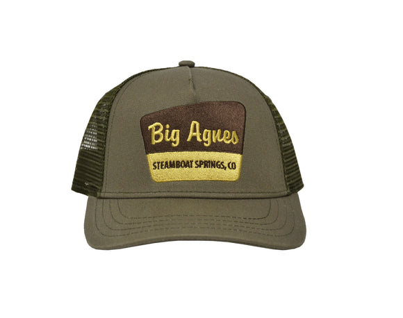 Signage Trucker Hat Surplus Olive