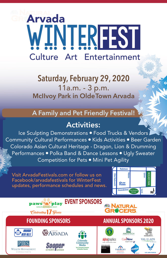 Don't miss the Arvada WinterFest, Sat. Feb 29th!!
