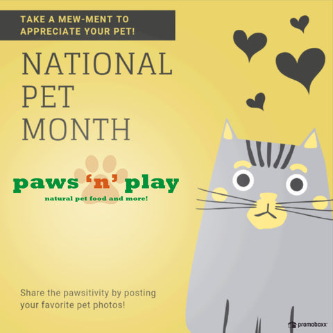 May is National Pet Month