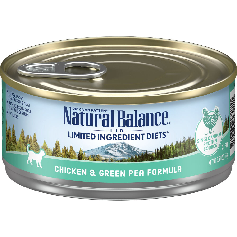 Natural Balance L.I.D. Limited Ingredient Diets Chicken & Green Pea Canned Cat Food
