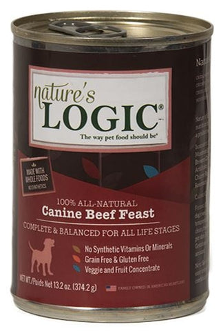 Nature's Logic Canine Grain Free Beef Feast Canned Dog Food