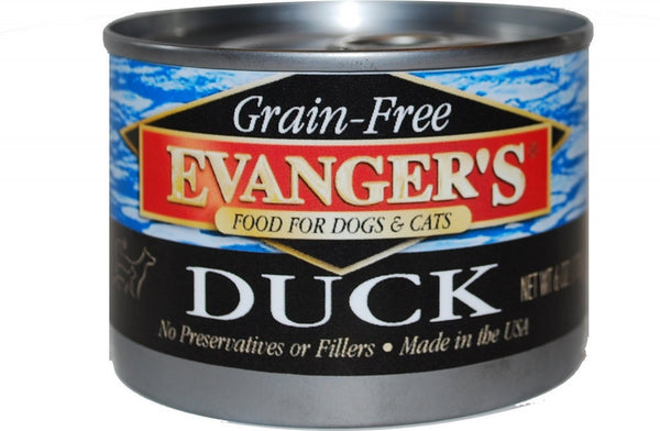 Evangers Grain Free Duck  Canned Dog and Cat Food