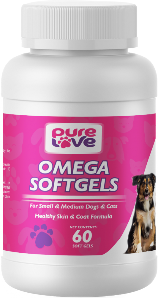 Pure Love Omega V3 SoftGels for Small to Medium Dogs and Cats