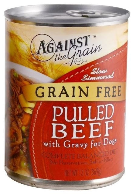 Against the Grain Pulled Beef with Gravy Canned Dog Food