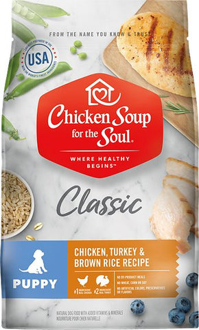 Chicken Soup For The Soul Puppy Recipe with Chicken, Turkey & Brown Rice Dry Dog Food