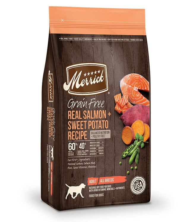 Merrick Grain Free Real Salmon & Sweet Potato Recipe Dry Dog Food