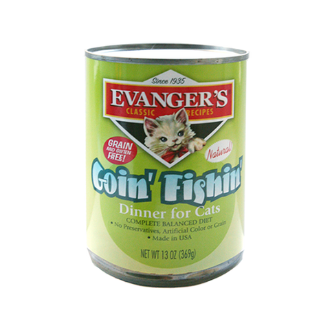 Evanger's Classic Recipe Grain Free Goin FIshin Dinner Canned Cat Food