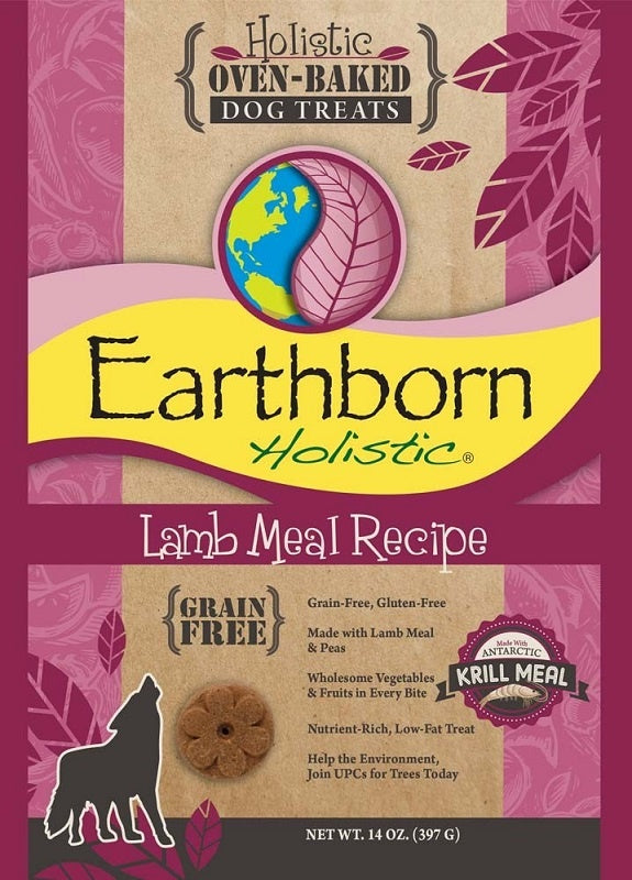 Earthborn Holistic Grain Free Oven Baked Biscuits Lamb Meal Recipe Dog Treats