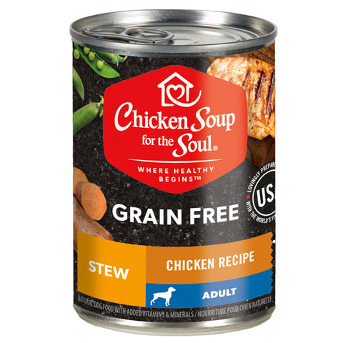 Chicken Soup For The Soul Grain Free Chicken and Duck Stew Canned Dog Food