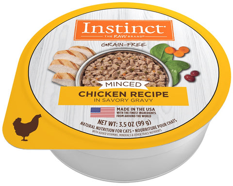 Instinct Adult Grain Free Minced Recipe with Real Chicken Natural Cat food Cups