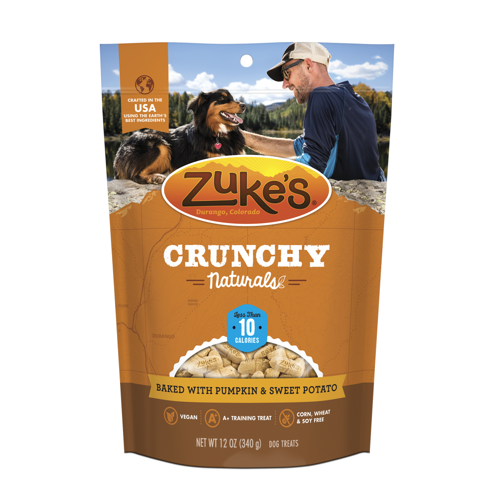 Zukes Crunchy Naturals Baked with Pumpkin &  Sweet Potato 10s Dog Treats
