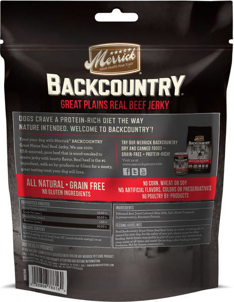 Merrick Backcountry Great Plains Grain Free Real Beef Jerky Dog Treats
