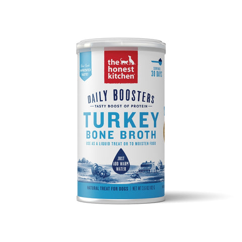 The Honest Kitchen Daily Boosters Turkey Bone Broth for Dogs and Cats