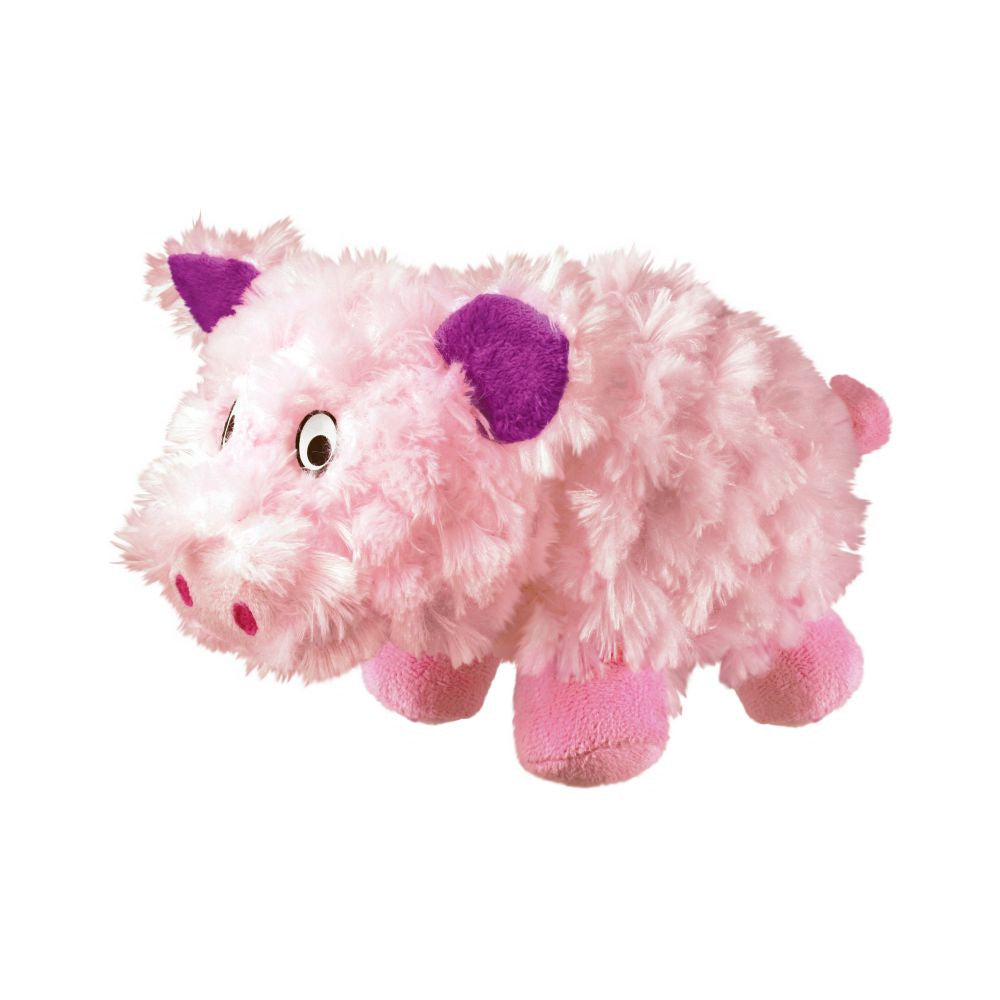 KONG Barnyard Cruncheez Pig Plush Dog Toy