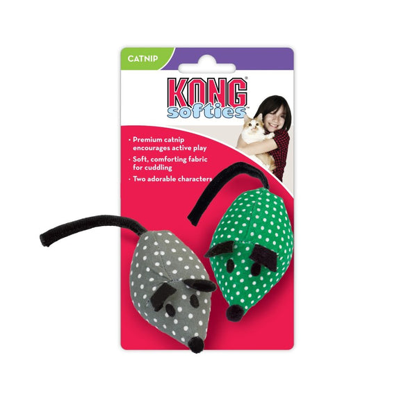 KONG Catnip Mice 2 Pack Cat Toy