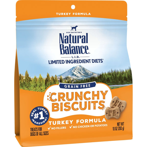Natural Balance L.I.D. Limited Ingredient Diets Crunchy Biscuits Turkey Formula Dog Treats