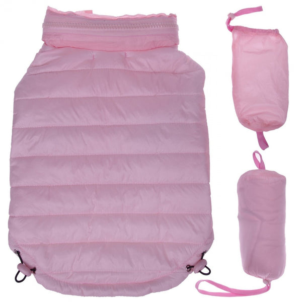 Pet Life Adjustable Light Pink Sporty Avalanche Dog Coat with Pop Out Zippered Hood