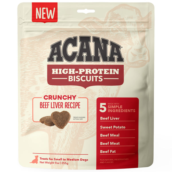 ACANA Crunchy Biscuits High-Protein Beef Liver Recipe Dog Treats