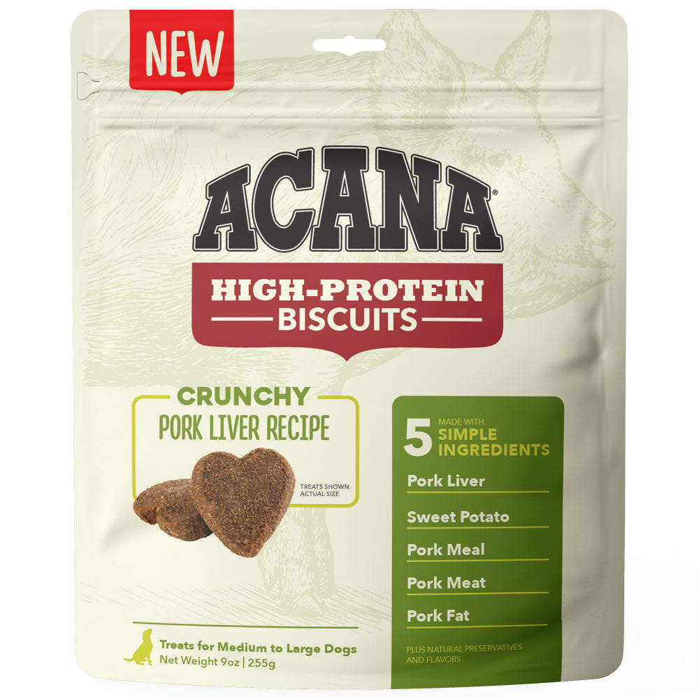 ACANA Crunchy Biscuits High-Protein Pork Liver Recipe Dog Treats