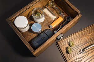 sliding lid locking stash box
