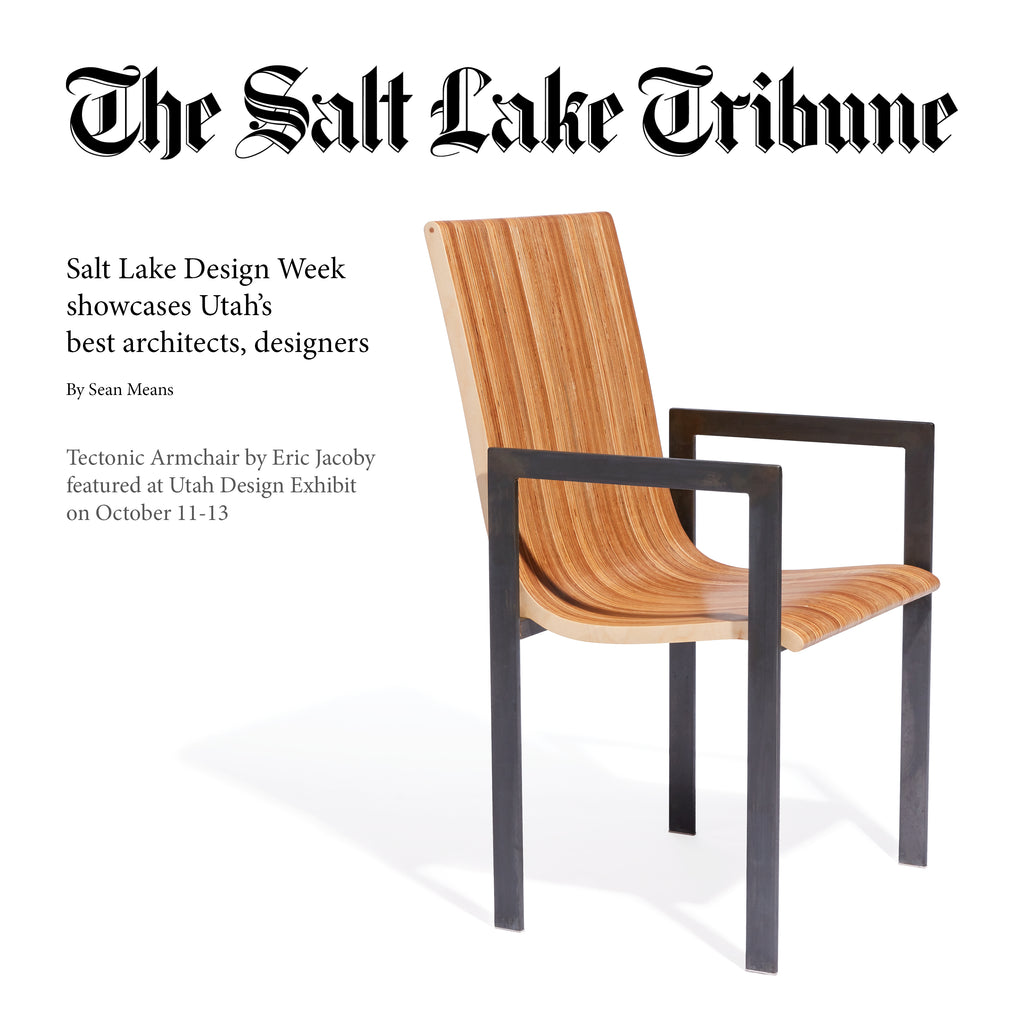 modern chair on newspaper headline