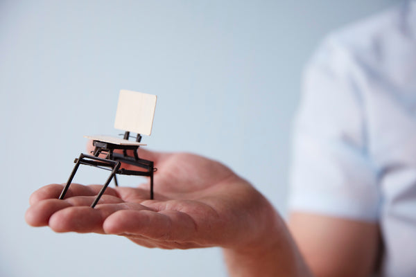 miniature hand-made study model for the Tectonic Folding chair