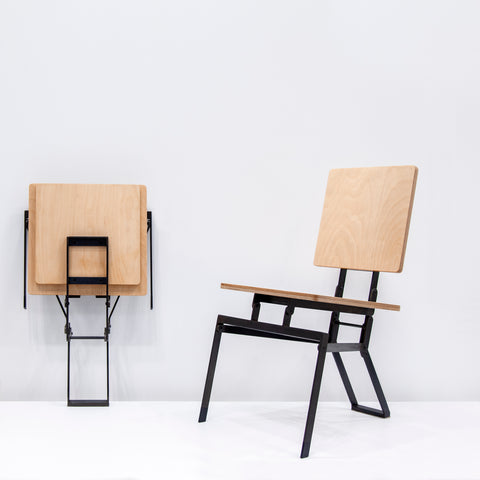 Tectonic Folding Chair on display at ICFF 2018
