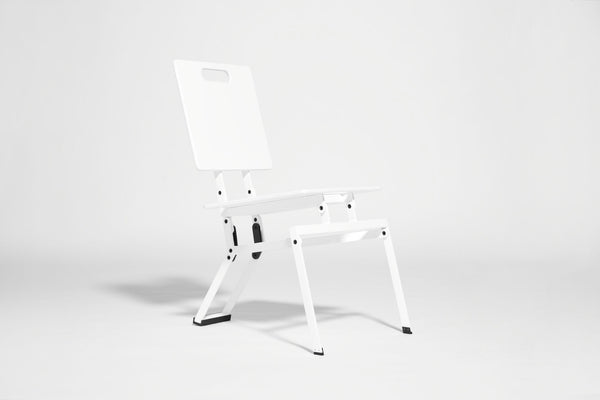 white on white folding chair