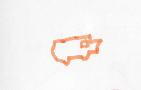 Image of my son's simple profile sketch for the toy car he wanted to build