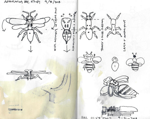 Bee sketches