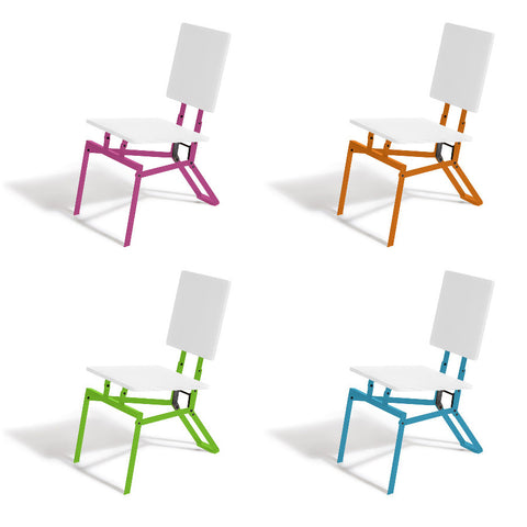 four square image of different color frames for the Eric Jacoby Design Tectonic Folding Chair