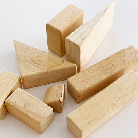 well worn wooden blocks