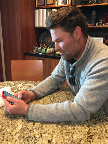 Eric Jacoby with new phone