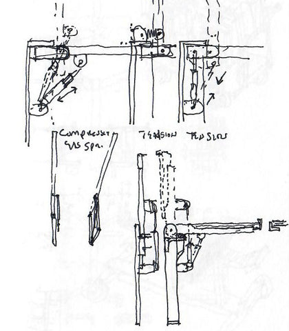 design sketch by Eric Jacoby for a folding bracket