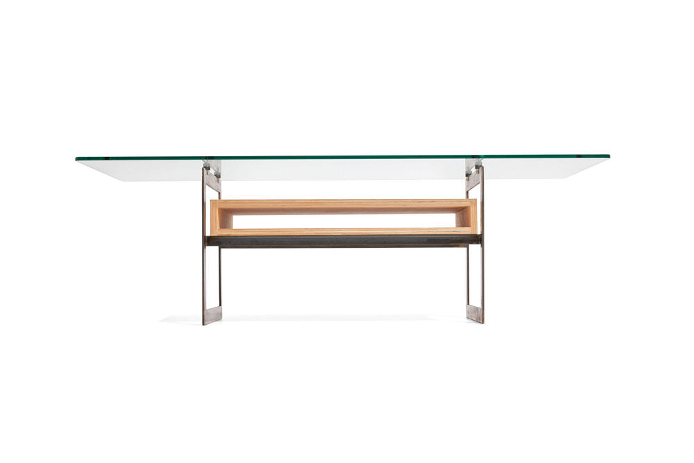 coffee table with floating glass